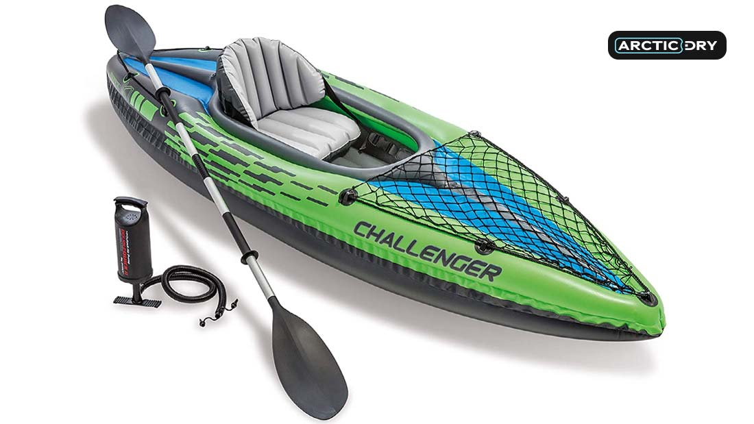 Intex-Challenger-Kayak,-Man-Inflatable-Canoe-with-Aluminum-Oars-and-Hand-Pump