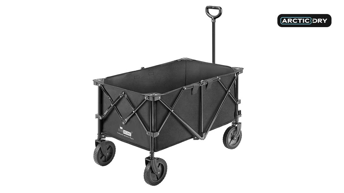 VIVOHOME-Heavy-Duty-176-Lbs-Capacity-Collapsible-Folding-Outdoor-Utility-Wagon-Patio-Garden-Cart-with-2-Drink-Holders-and-Wheels-for-Camping-and-Picnic